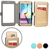 Cooper Cases(TM) Slider Pocket ZTE Blade G/Pro/Lux, G2, III Pro, Q/Mini, Vec 3G Smartphone Wallet Case in Gold