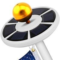 GRDE Solar Flag Pole Light Bright Flagpole Solar Lighting ...