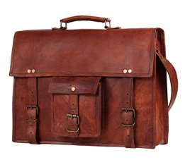 15-Mens-Genuine-Leather-laptop-messenger-bag-Satchel-shoulder-bag-crossbody-bag-briefcase