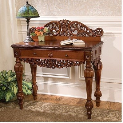Image of British Colonial Hand-Carved Console Table (KS4209)