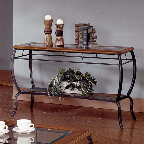 Image of Steve Silver Loretta Cherry Console Table (LR150S)