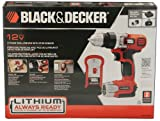 Black & Decker 12 Volt Lithium Drill/Driver with Stud Sensor Holds Charge for 18 Months