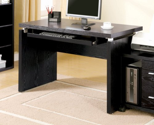 Picture of Comfortable Dark Clean Lines Computer Desk by Coaster Furniture (B004LZ9XAI) (Computer Desks)