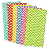 "DII 100% Cotton, Basic Everyday 18x18"" Buffet Napkin, Set of 6, Multi Color Zig Zag"