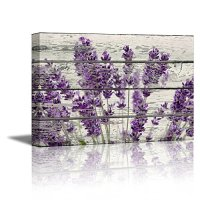 Home Decor Canvas Wall Art Purple Lavender Flowers on