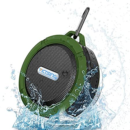 Specification: Bluetooth 3.0 Playback time: 4-6 hours Charging time: 3 hours Battery: 3.7V/500 MAH Connection range: up to 30 feet Frequency Response: 120Hz-22 KHz 1. Great for Outdoors and Shower The silicone cases and interface design ensure Shockp...