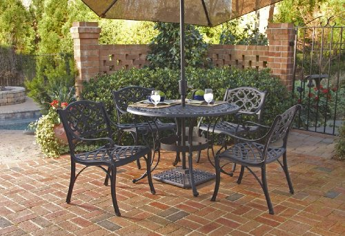 Patio Sets Clearance Home Styles 5554 308 Biscayne 5 Piece Outdoor Dining Set Black Finish 42 - Garden Furniture Dining Set Clearance