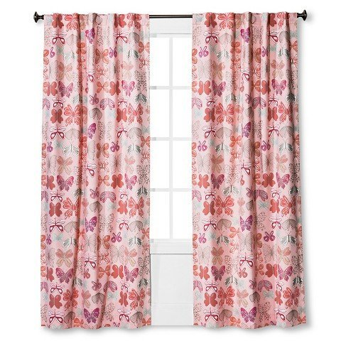 PillowfortTM-Butterfly-Print-Twill-Light-Blocking-Curtain-Panel