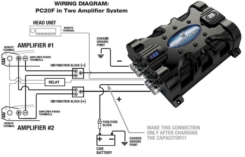 wiring diagram car audio capacitor