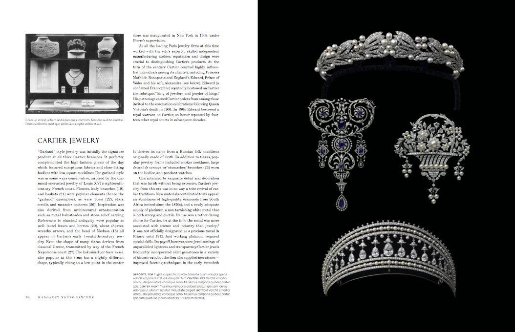 The art deco tiara of Yvette Larbousse, Begum Aga Khan,1934 This - jewelry brochure