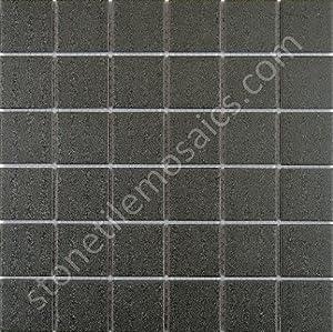 Vintage Black Unglazed Square 2x2 Inch Porcelain Floor