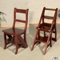 Buy Ladder Extension: Library Ladders Walnut Convertible ...