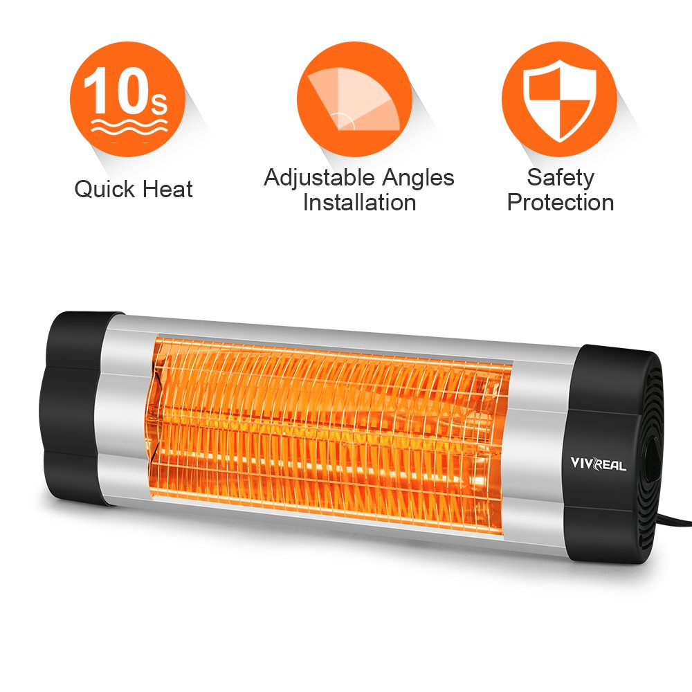 Garage Heater With Wall Thermostat Wall Mounted Heater 1500w Infrared Heater With Carbon Fiber Tube