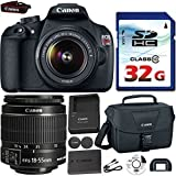 Canon EOS Rebel T5 DSLR 18mp + EF-S 18-55mm IS [Image Stabilizer] II Zoom Lens + Canon Professional Gadget Bag + Commander 32GB Class 10 Ultra High Speed Memory Card