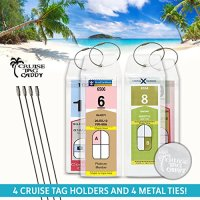 Cruise Tag Caddy 4 Pc Narrow Luggage Tag Holders for Royal