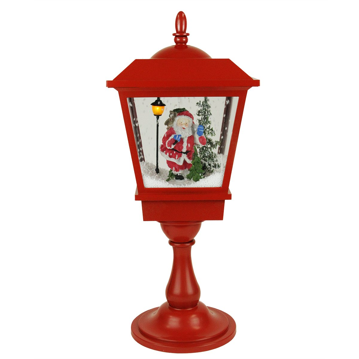 Indoor Street Light Lamp Santa Claus Tabletop Decorations Christmas Wikii