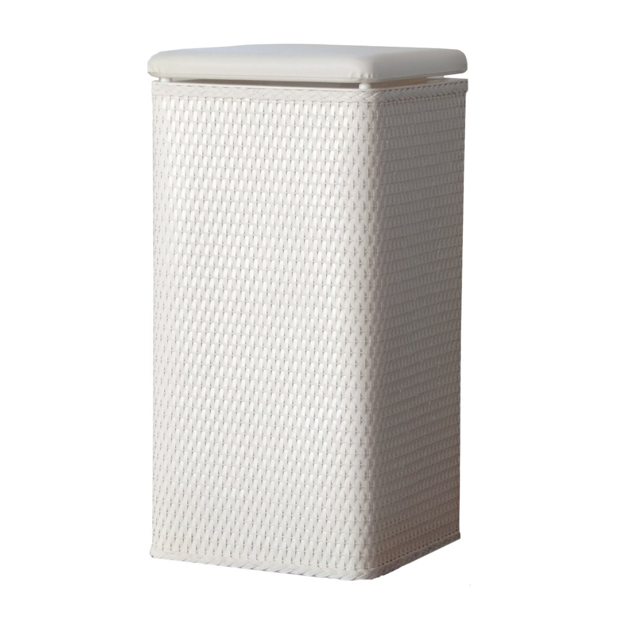 White Laundry Hamper With Lid Lamont Home Carter Apartment Wicker Laundry Hamper With