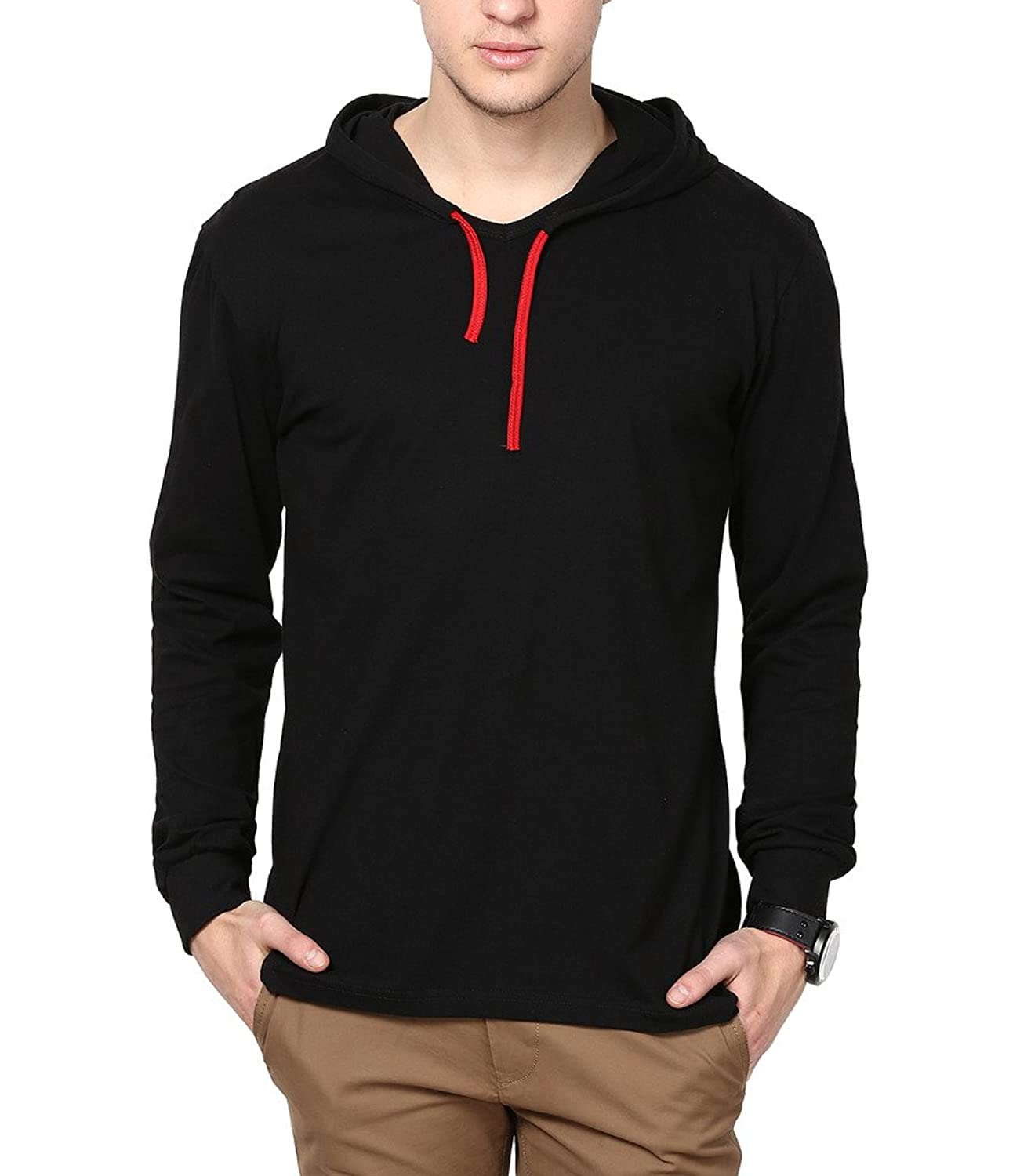 Inkovy full sleeve men s cotton hooded t shirt amazon in clothing accessories