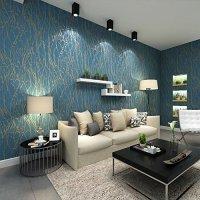 Non-Woven 3D Wallpaper, Print Embossed, Modern Stripe ...