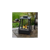 29 Oasis Square Outdoor Patio Gel Fireplace Black on PopScreen