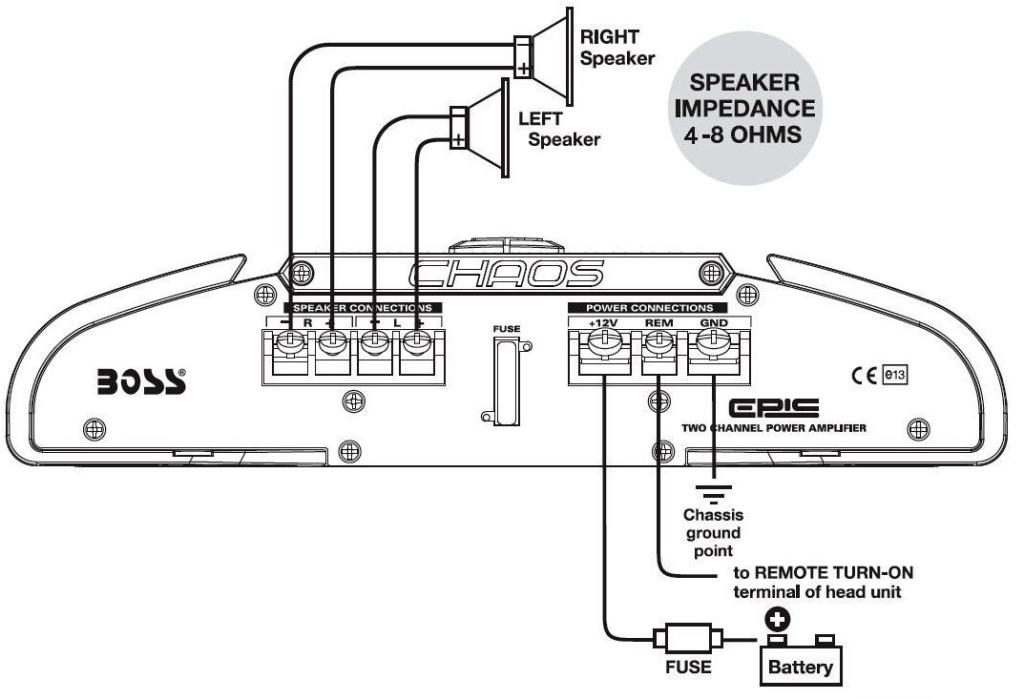 wiring door speakers to amp diagram