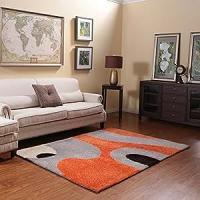 Amazon.com - Ustide Orange 3D Living Room Carpet High Pile ...