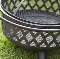 Wood Burning Fire Pit Outdoor Furniture Background Patio ...