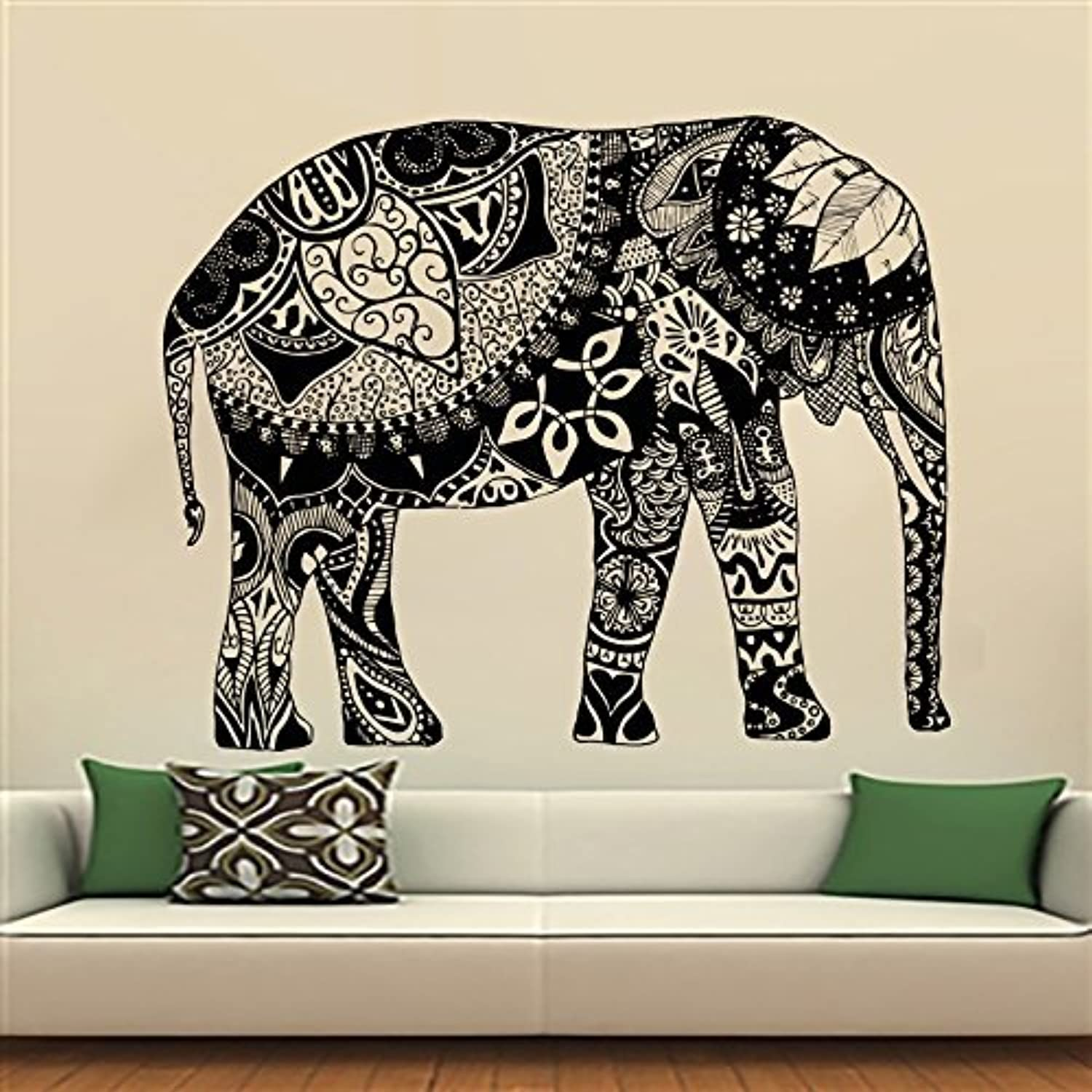 Elephant Decoration Interieur Elephant Wall Stickers Decals Indian Pattern Decal Vinyl