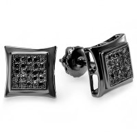 Black Diamond Square Earrings For Men ImagesKavanahshabbat