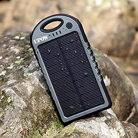 Why Upow Solar Charger? The World's FIRST Combo of Portable External Battery Pack, Solar Panel, Bluetooth Shutter and Emergency LED Flashlight, not only for charging and backup but also for entertainment. Multifunctional Combo Upow Battery P...