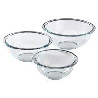 Pyrex 3-Piece Kitchen Glass Mixing Bowl Baking Cake Stir ...