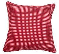 Amazon.com - 22x22 Red Gingham Cotton Decorative Throw ...