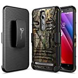 ZenFone 2 Case, NageBee [Heavy Duty] Armor Shock Proof Dual Layer [Swivel Belt Clip] Holster with [Kickstand] Combo Rugged Case for ASUS ZenFone 2 ZE550ML/ZE551ML - Camouflage