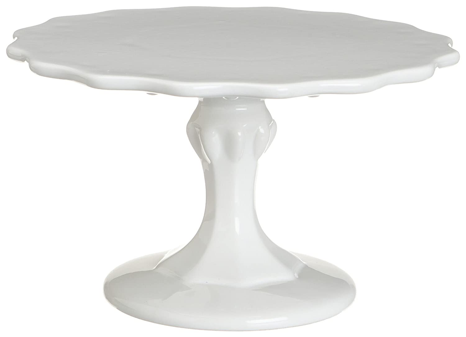 White Pedestal Cake Stand. Pedestal Footed Cake Stand with