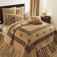Amazon.com: Bedding Quilts India Home Fashions Burlap Star ...