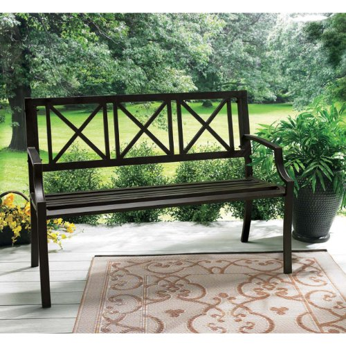 Benches Patio Furniture: Living Accents Lexington Steel