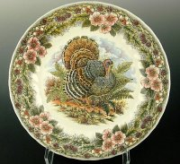 Chic Thanksgiving Turkey Platters and Dinnerware Set
