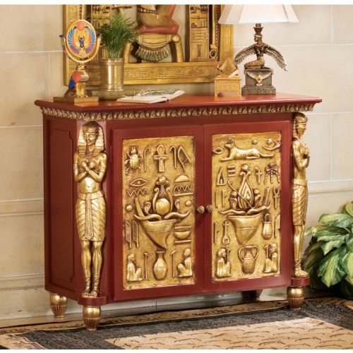 Image of Classic Egyptian Palace of Ramses Egyptian Console Table/ Hallway Table (NE36742)