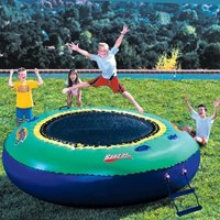 Banzai Bounce Inflatable Water Or Land Trampoline Swimming ...