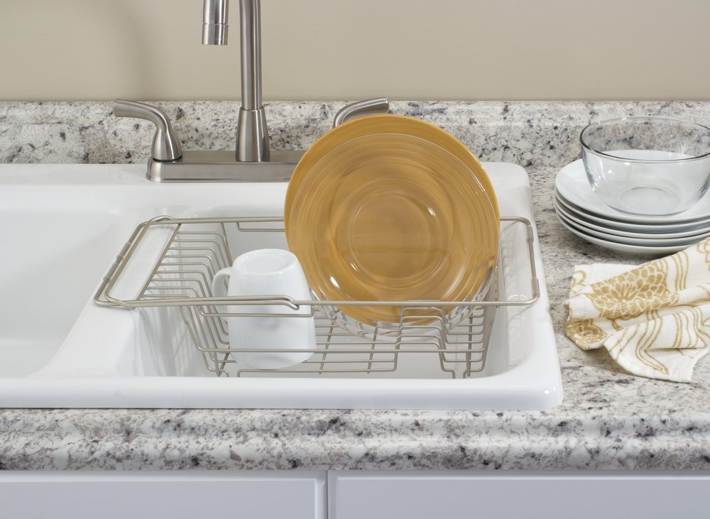Dish Drying Rack Over Sink Drainer Holder Expandable