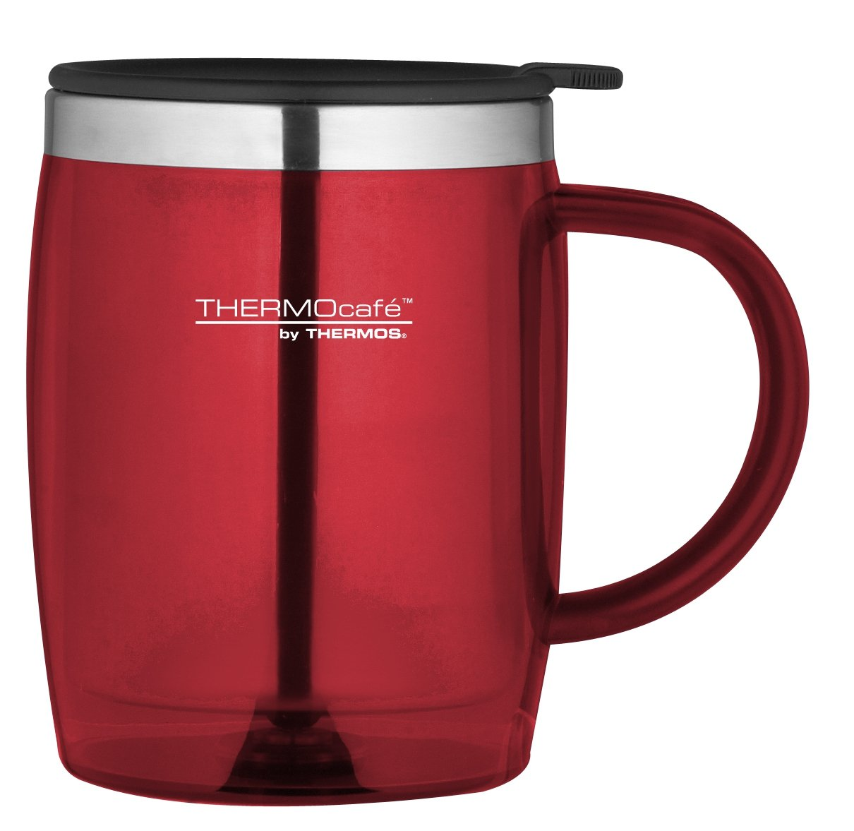 Thermos Cafe Thermos Thermocafe Desk Mug 450 Ml Red Red Desk Mug