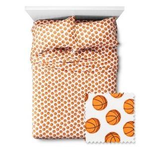 Basketball-Sheet-Set-Pillowfort-Twin