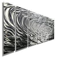 Amazon.com: Large Silver Water Inspired Metal Wall Art ...