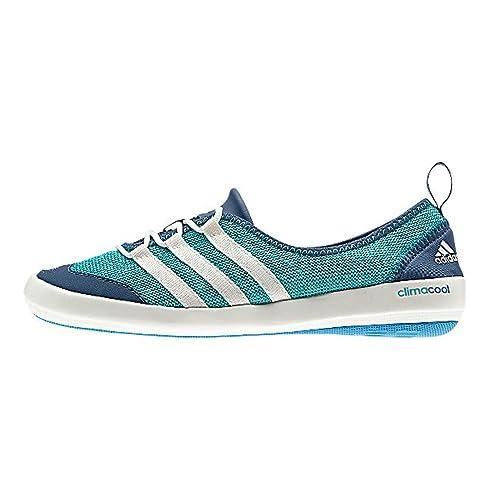 Adidas climacool Boat Sleek Shoe - Women's Vivid Mint / Chalk White / Vista Blue 7