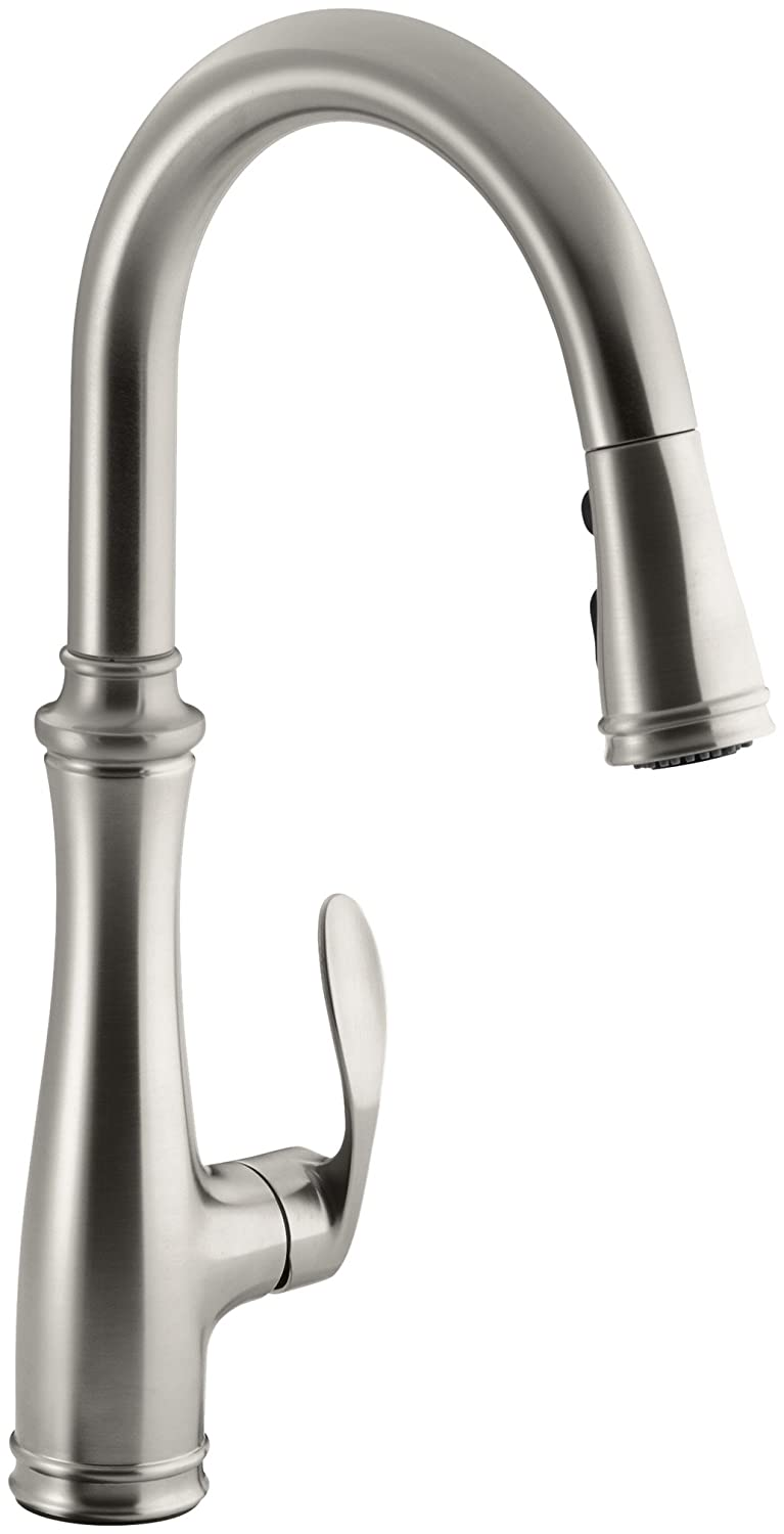 best pull down kitchen faucet pull down kitchen faucet kohler k best pull down faucet