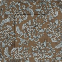 Damask 11 In. Square Melamine Dinner Plate - Brown/blue ...