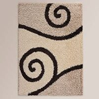 Amazon.com - Ustide Long Pile Black and White Rug for ...