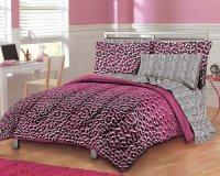 Girls Teen Hot Pink Leopard Print Comforter Set | Bedding ...