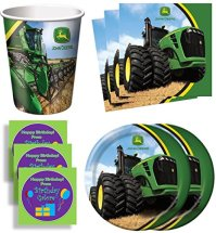 John Deere Tractor Birthday Party Supplies Set Plates ...