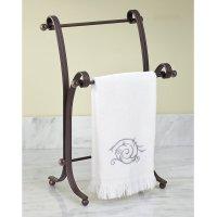InterDesign York Metal Fingertip Towel Stand , Bronze ...